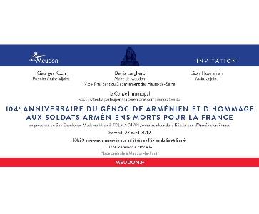 104e anniversaire du Génocide Arménien à Meudon