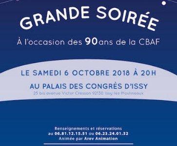 90 EME ANNIVERSAIRE DE LA CBAF