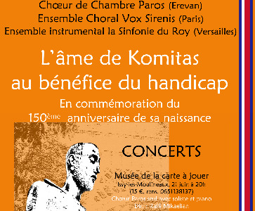 Concert Exceptionnel du Chœur de Chambre PAROS d'Arménie