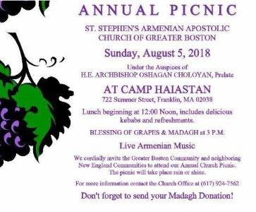 Annual Picnic Greater Boston