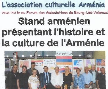 """""""Arménia"""" au Forum des associations de Bourg-Lès-Valence"""
