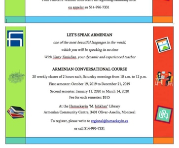 Armenian conversational course for adults