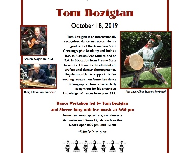 Armenian Dance Workshop with Tom Bozigian