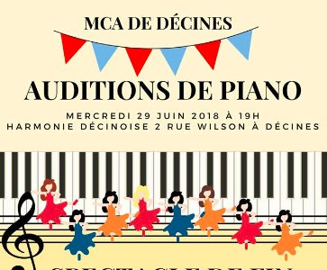 Auditions de Piano