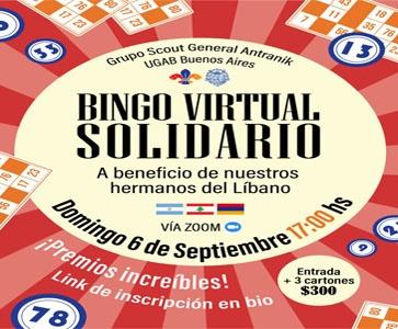 ⚜️Benefit bingo evening-Bingo Virtual Solidario