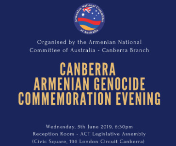 Canberra Armenian Genocide Commemoration Evening