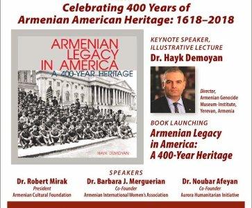 Celebrating 400 Years of Armenian American Heritage: 1618-2018