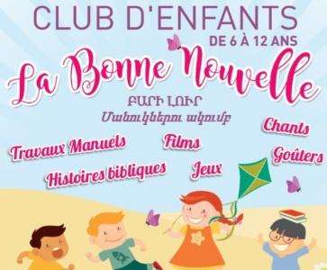Club d'enfants - La Bonne Nouvelle