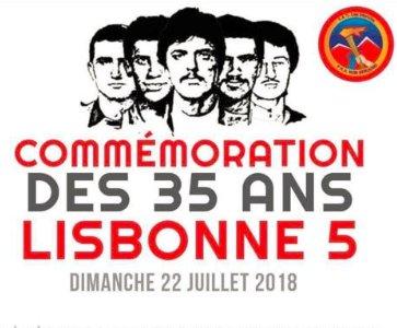 Commémoration des 35 ans des 5 de Lisbonne