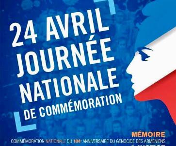 Commémoration du 104e anniversaire du Génocide des Arméniens