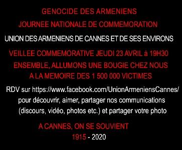 COMMEMORATION GENOCIDE DES ARMENIENS