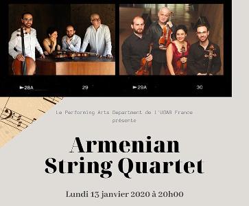 Concert de l'Armenian String Quartet