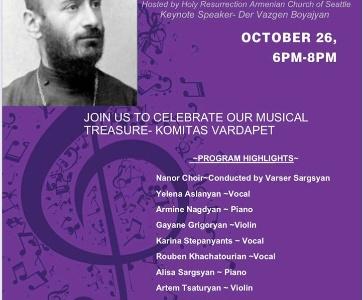 Concert dedicated to 150th Anniversary of Komitas Vardapet