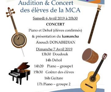 Concert des élèves de la MCA d'Alfortville et présentation du Kamantcha
