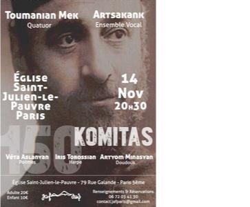 Concert hommage à Komitas