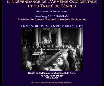 Conférence sur le Centenaire du  l'Indépendance de l'Arménie Occidentale  et du Traité de Sèvres