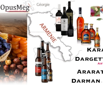 Dégustation et ventes de produits de qualité d'Arménie