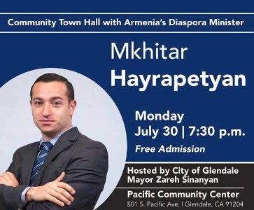 Diaspora Minister Mkhitar Hayrapetyan