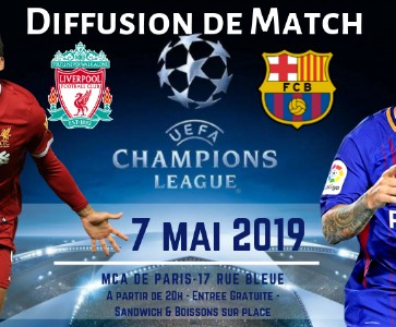 Diffusion du match Liverpool vs Barcelone