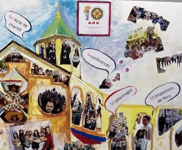 Dîner à l'occasion de la 10ème anniversaire du Groupe de Jeunes St Jean-Baptiste de Paris