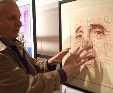 Dir Vahaken dessine Charles Aznavour