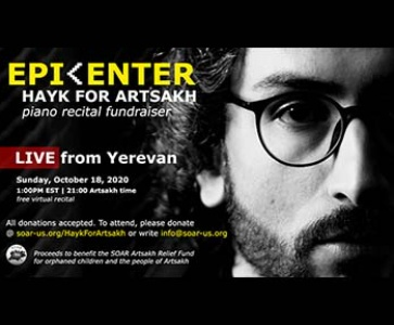 EPICENTER: Hayk For Artsakh Piano Recital Fundraiser
