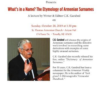 Etymology of Armenian Surnames