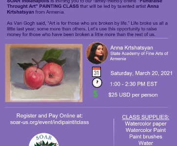 """Fundraise Through Art "" Online Painting Class"