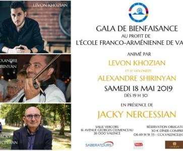 Gala de Bienfaisance au profit de l'Ecole Franco-arménienne de Valence