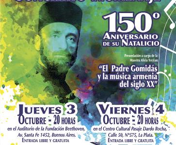 Gran concierto homenaje al Padre Gomidás, en el marco del 150° aniversario de su nacimiento.