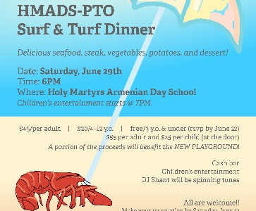 Holy Martyrs Armenian Day School Surf and Turf Dinner