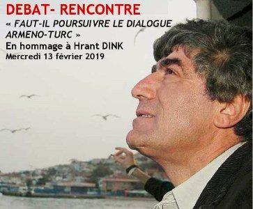 Hommage à H.Dink : Faut-il poursuivre le dialogue Arméno-Turc?