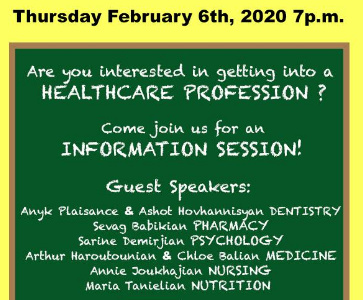 Information session for application to University programs in the health field