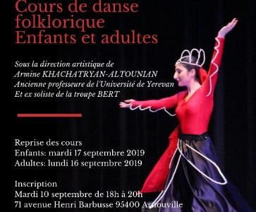 Inscription danse arménienne
