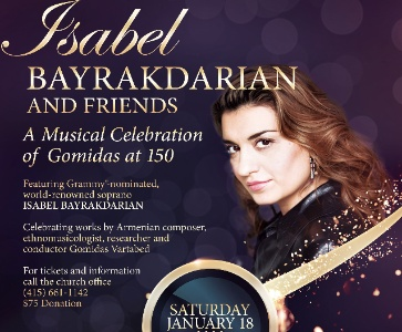Isabel Bayrakdarian and Friends, A Musical Celebration of Gomidas at 150