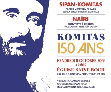 CHOEUR SIPAN-KOMITAS / KOMITAS 150 ANS - CONCERT EXCEPTIONNEL