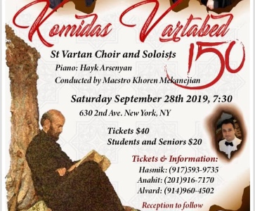 Komitas Vartabed 150 Anniversary Concert