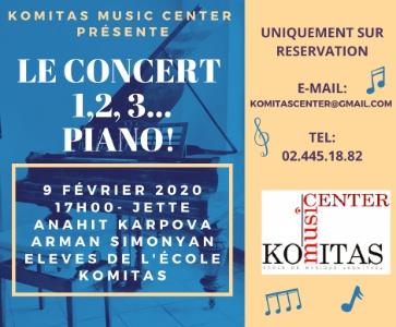 Le concert 1, 2, 3... Piano !