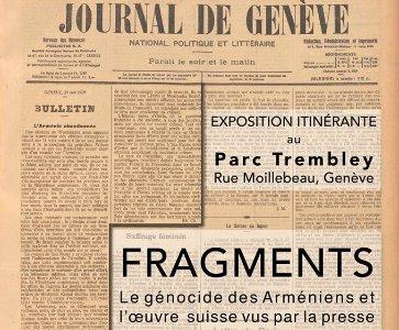 Le génocide des Arméniens et l'œuvre suisse vus par la presse