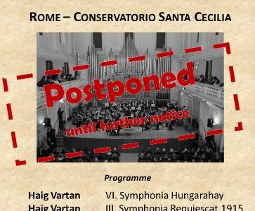 POSTPONED: Rome – Conservatorio Santa Cecilia