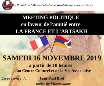 Meeting politque pour l'amitié entre la France et l'Artsakh