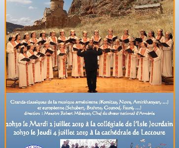 Concert du Chœur Notre Dame d'Arménie à Lectour