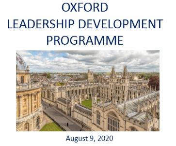 Oxford Leadership Development Programme 2020