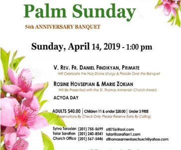 Palm Sunday 54th Anniversary Banquet & ACYOA DAY
