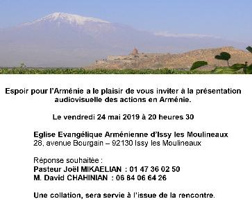 Présentation des actions en Arménie