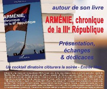 Présentation du livre « Arménie, chroniques de la IIIème République »