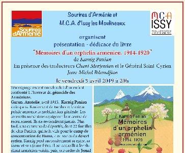 Présentation du livre « Mémoires d'un orphelin arménien »