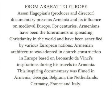 Projection de deux films sur l'Arstakh et l'Arménie