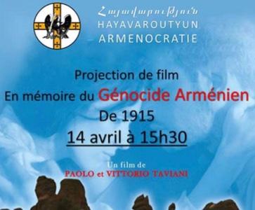 Projection de Film, En mémoire du Génocide Arménien