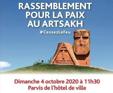 Rassemblement pour la paix au Artsakh